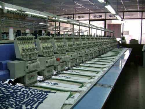 Xưởng thêu quần áo